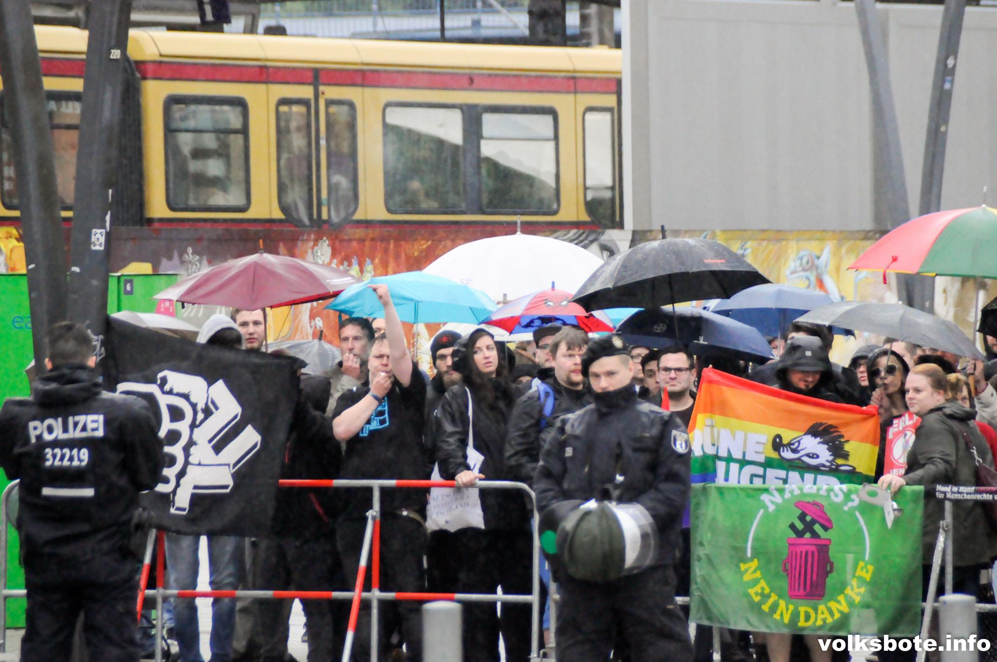 Gegenprotest in Lichtenberg