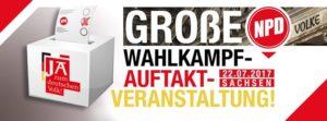 Wahlkampfauftakt der NPD @ Dresden | Sachsen | Deutschland