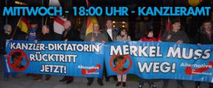 Merkel muss weg Mittwoch @ Berlin - Bundeskanzleramt | Berlin | Berlin | Deutschland