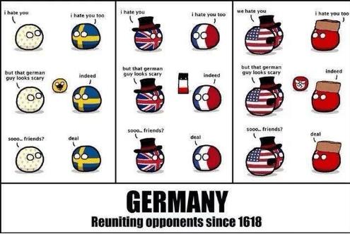 Deutschland vereint Gegner seit 1618