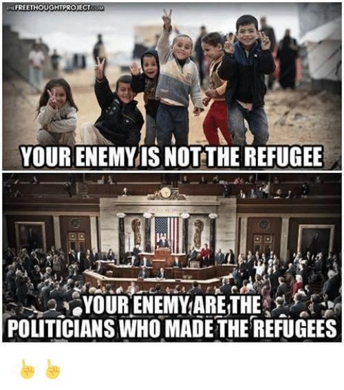 Refugee is not enemy